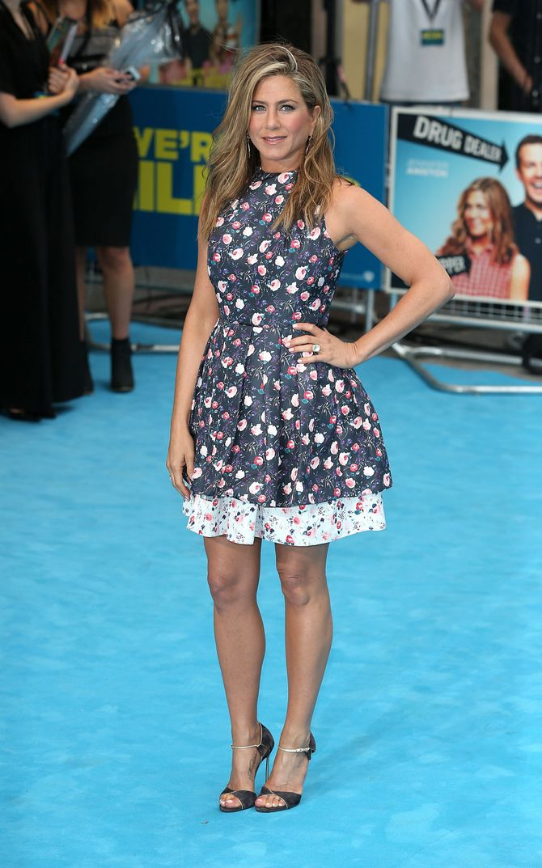 Jennifer Aniston à l'avant-première de We're the Millers à Londres mardi soir