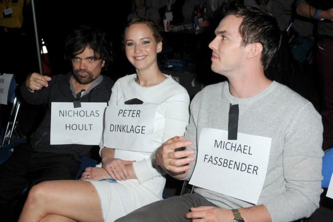 Peter Dinklage, Jennifer Lawrence and Nicholas Hoult