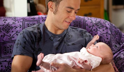 David's besotted with his daughter