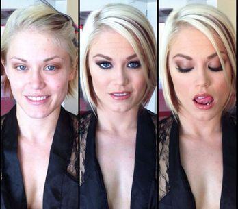 Foto/ 100 attrici porno senza make up