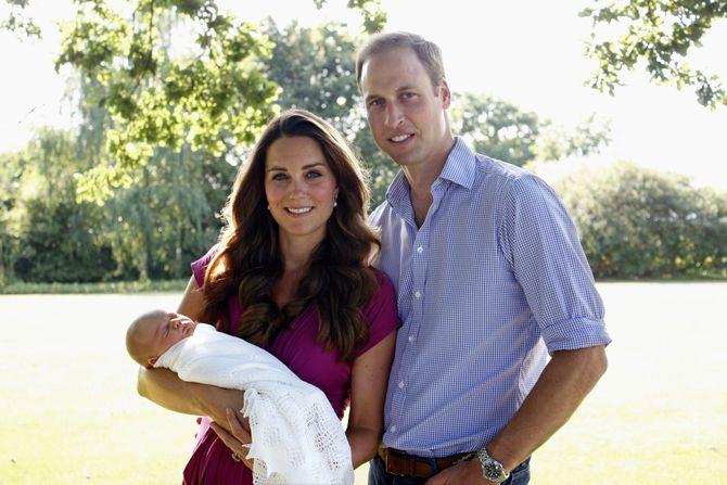 Herzogin Kate, Prinz William und der kleine George
