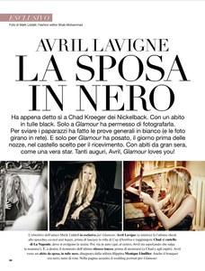 Avril Lavigne dans le Glamour Italie