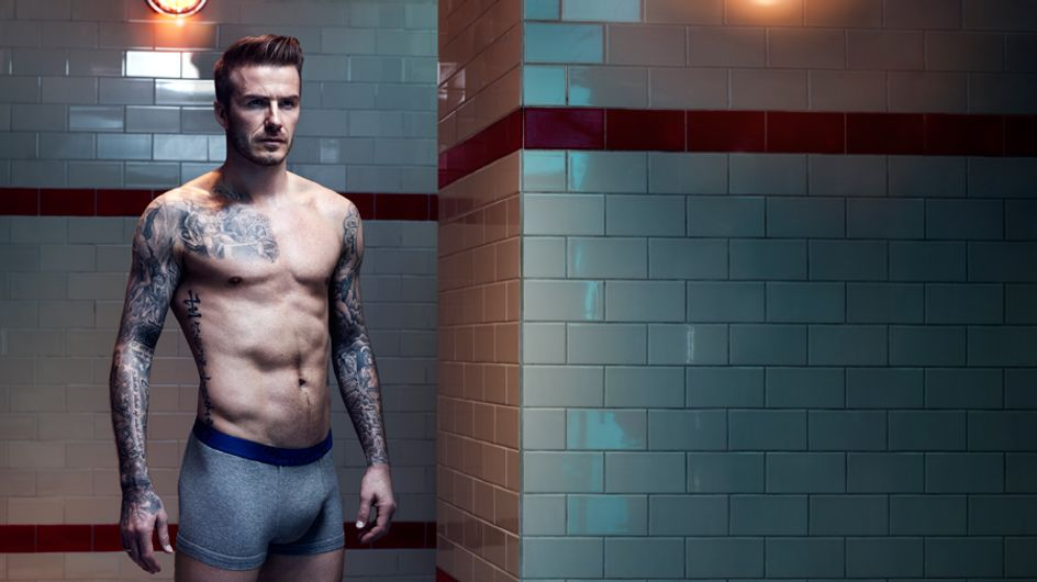 David Beckham is back in his boxers for H&M aw13 campaign