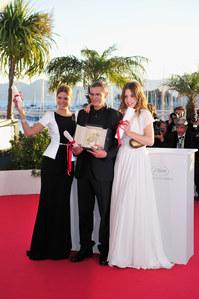 Léa Seydoux, Abdellatif Kechiche et Adèle Exarchopoulos au Festival de Cannes 2013