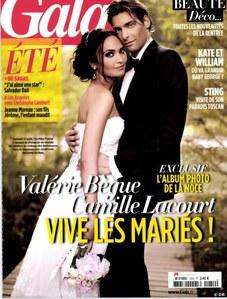 Valérie Bègue et Camille Lacourt jeunes mariés