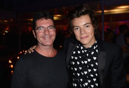 Harry Styles and Simon Cowell at the This Is Us premiere