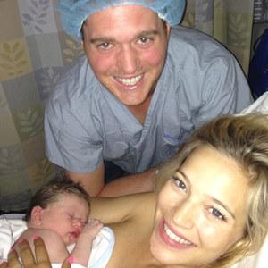 Michael Bublè con la moglie Luisana Lopilato e il piccolo Noah
