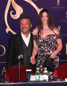 Monica Bellucci insieme al magnate russo Telman Ismailov