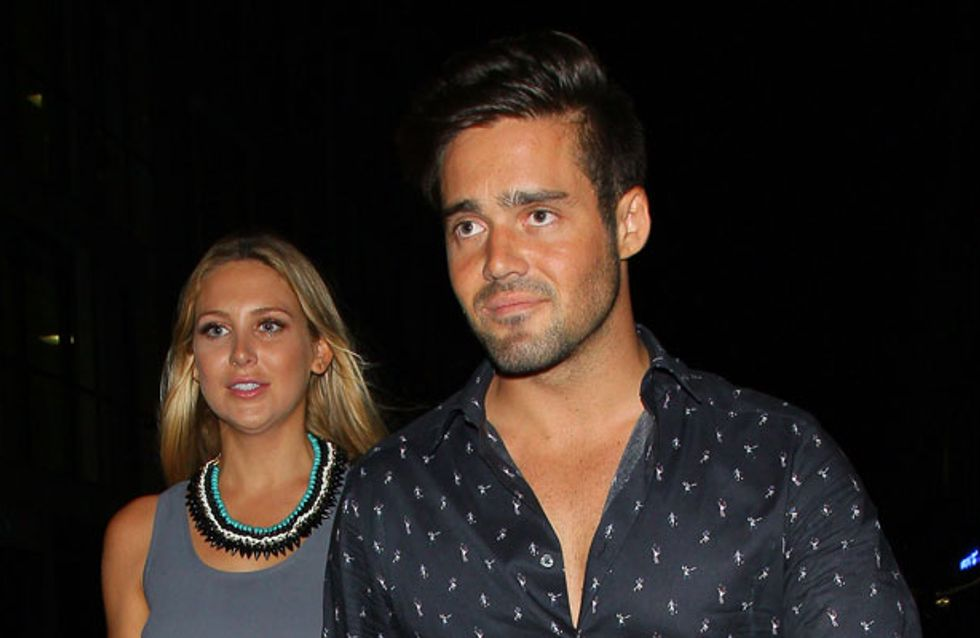 Awkward! MIC's Spencer Matthews introduces girlfriend Stephanie Pratt to Caggie Dunlop