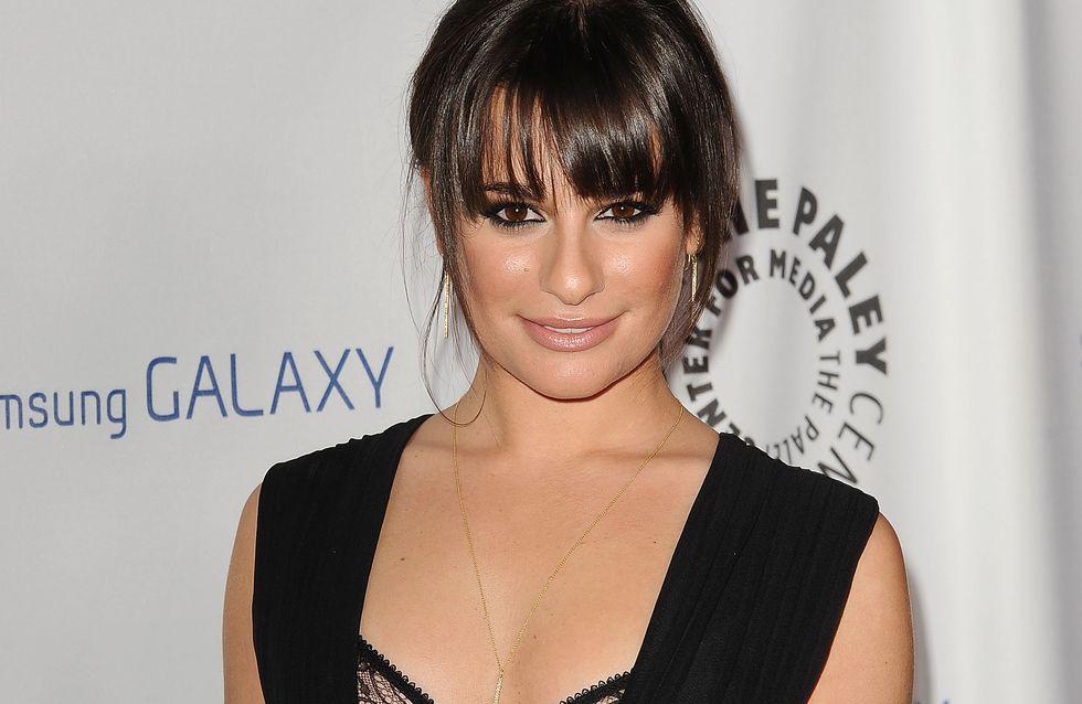 Glee : Lea Michele si courageuse sur le tournage de l'épisode hommage à Cory Monteith