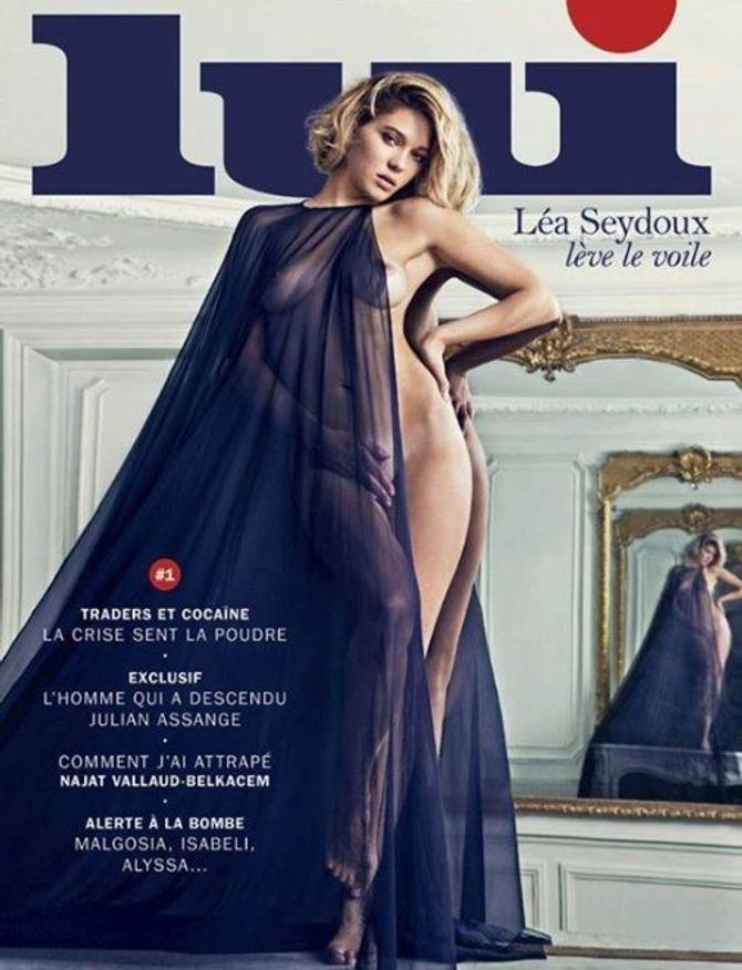 Léa Seydoux en couverture de Lui