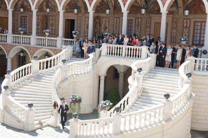 Imagen familiar de la boda distribuida por la casa real de Mónaco.