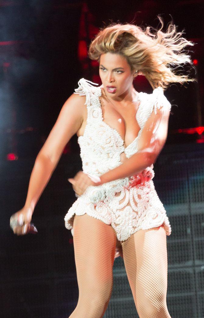 Beyoncé durante su gira