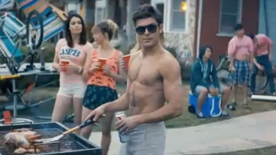 WATCH: Zac Efron topless in new comedy Neighbors with Seth Rogen