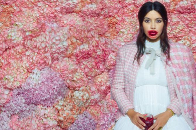 Kim Kardashian in bizarre Karl Lagerfeld photo shoot