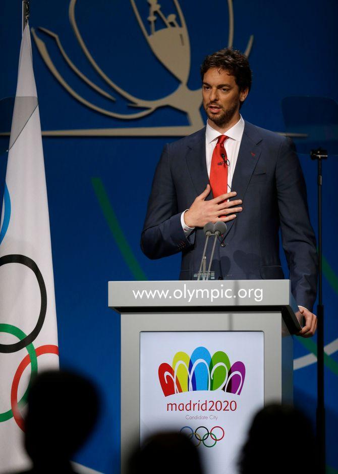 Pau Gasol en su discurso por la candidatura olímpica de Madrid