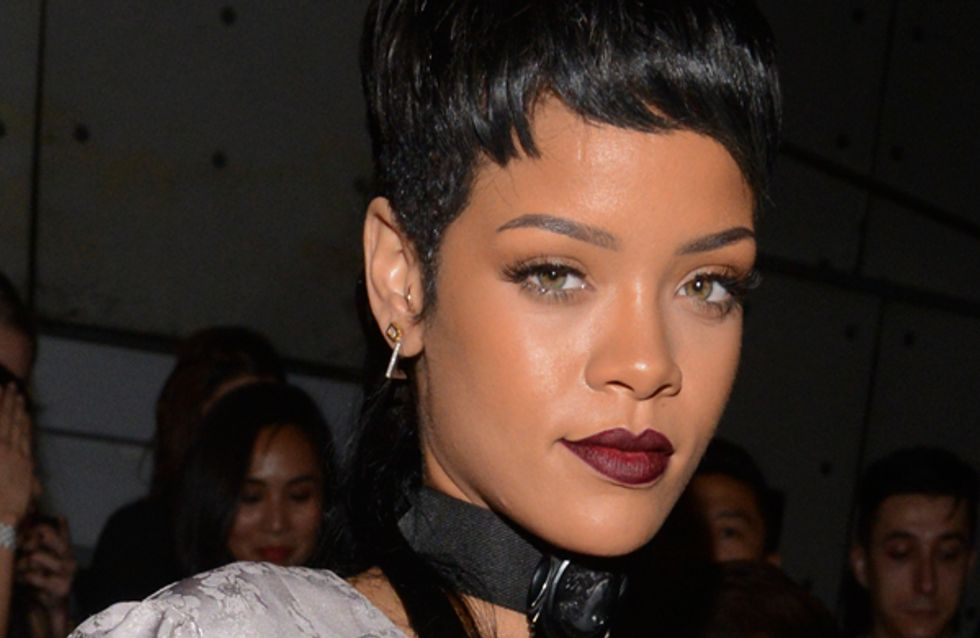 Rihanna debuts New York Fashion Week mullet