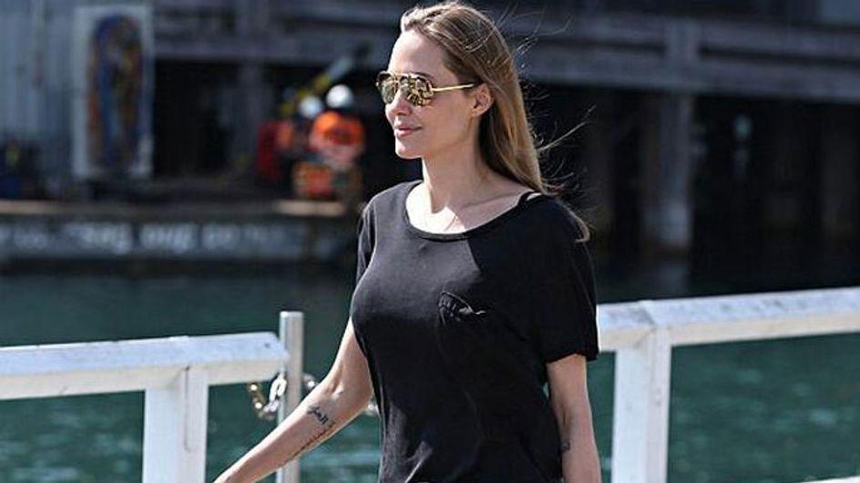 Angelina Jolie shows off new Arabic tattoo