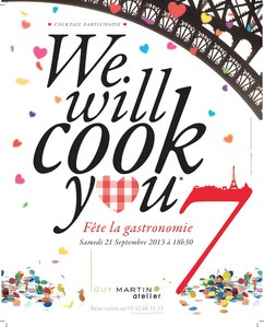 We will cook you, fête de la gastronomie