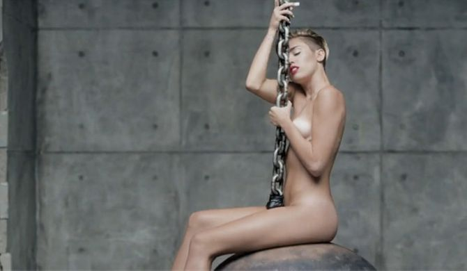 Miley Cyrus in 'Wrecking Ball'