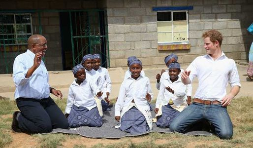 Prince Harry in Lesotho, Africa