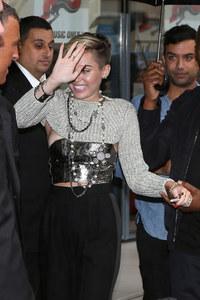 Miley Cyrus's nip slip in Paris