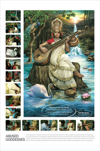 La déesse Saraswati, battue dans la campagne SOS