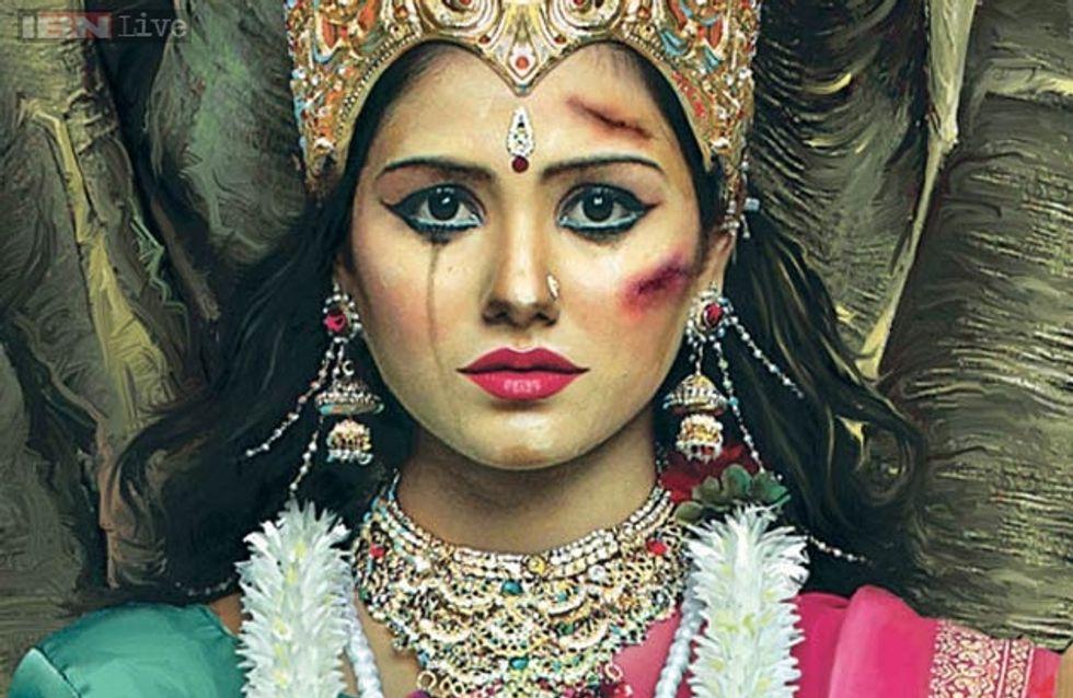 Inde : Une campagne divinement choc contre les violences faites aux femmes