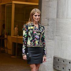Ashley Greene, lookée avec un perfecto à fleurs