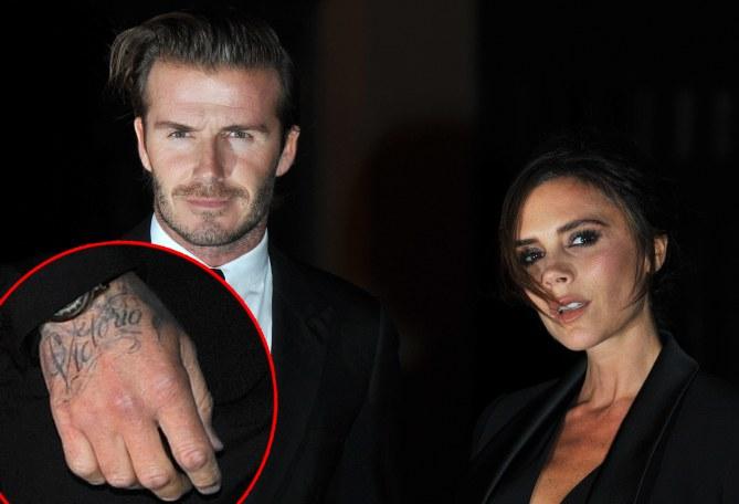 David Beckham insieme alla moglie Victoria