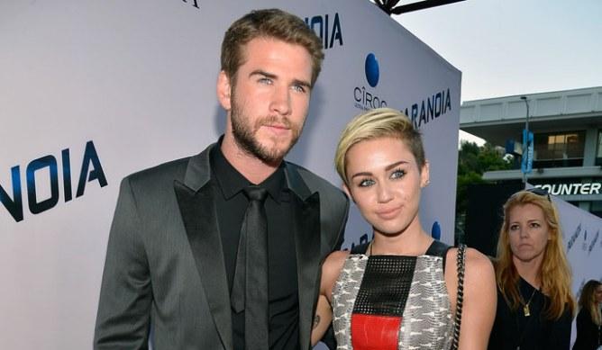 Miley Cyrus et Liam Hemsworth en août 2013