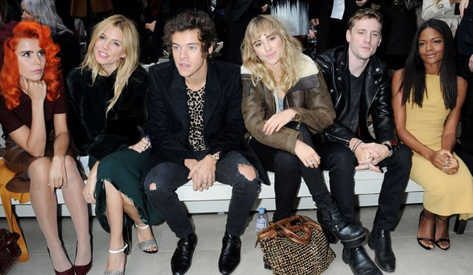 The Burberry front row