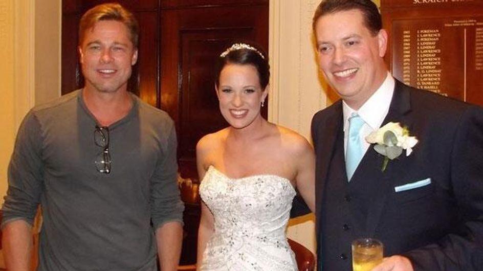 Brad Pitt : Guest au mariage de deux inconnus