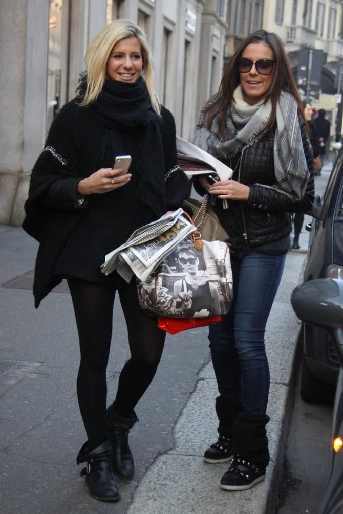 Le due ex veline Alessia Reato e Giulia Calcaterra