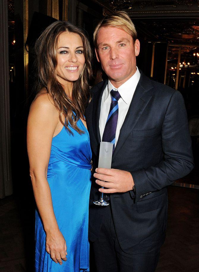 Liz Hurley & Shane Warne