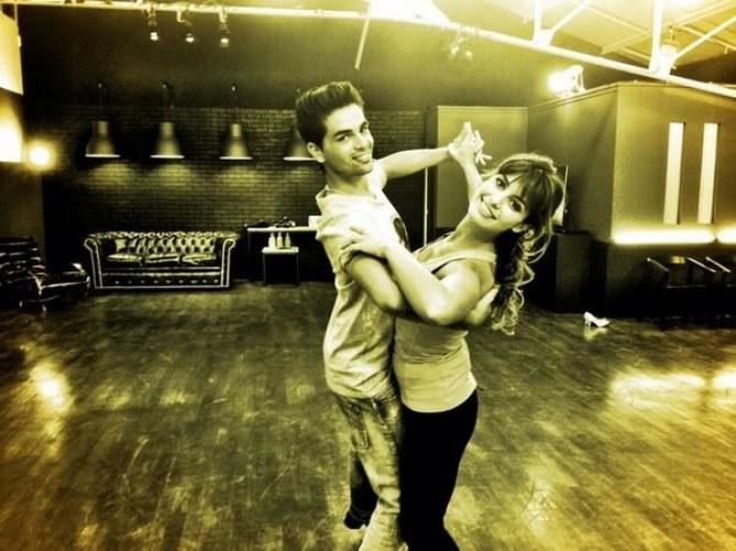 Laetitia Milot en répétition (Danse avec les stars)