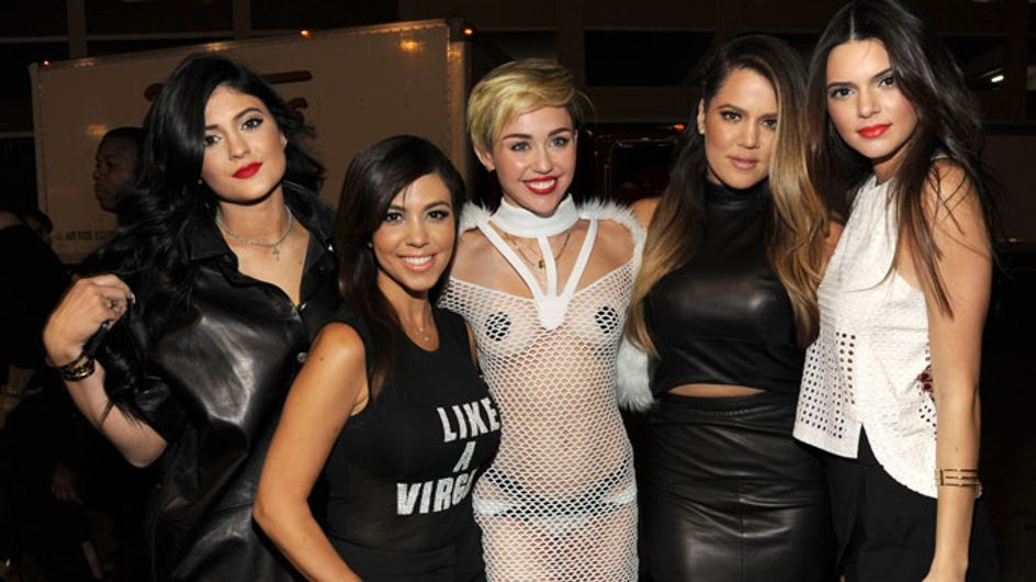 Miley Cyrus hangs out with the Kardashians after emotional Vegas set