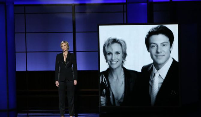 Jane Lynch pays tribute to Cory Monteith