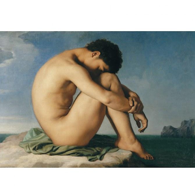 Jeune homme assis au bord de la mer - Hippolyte Flandrin