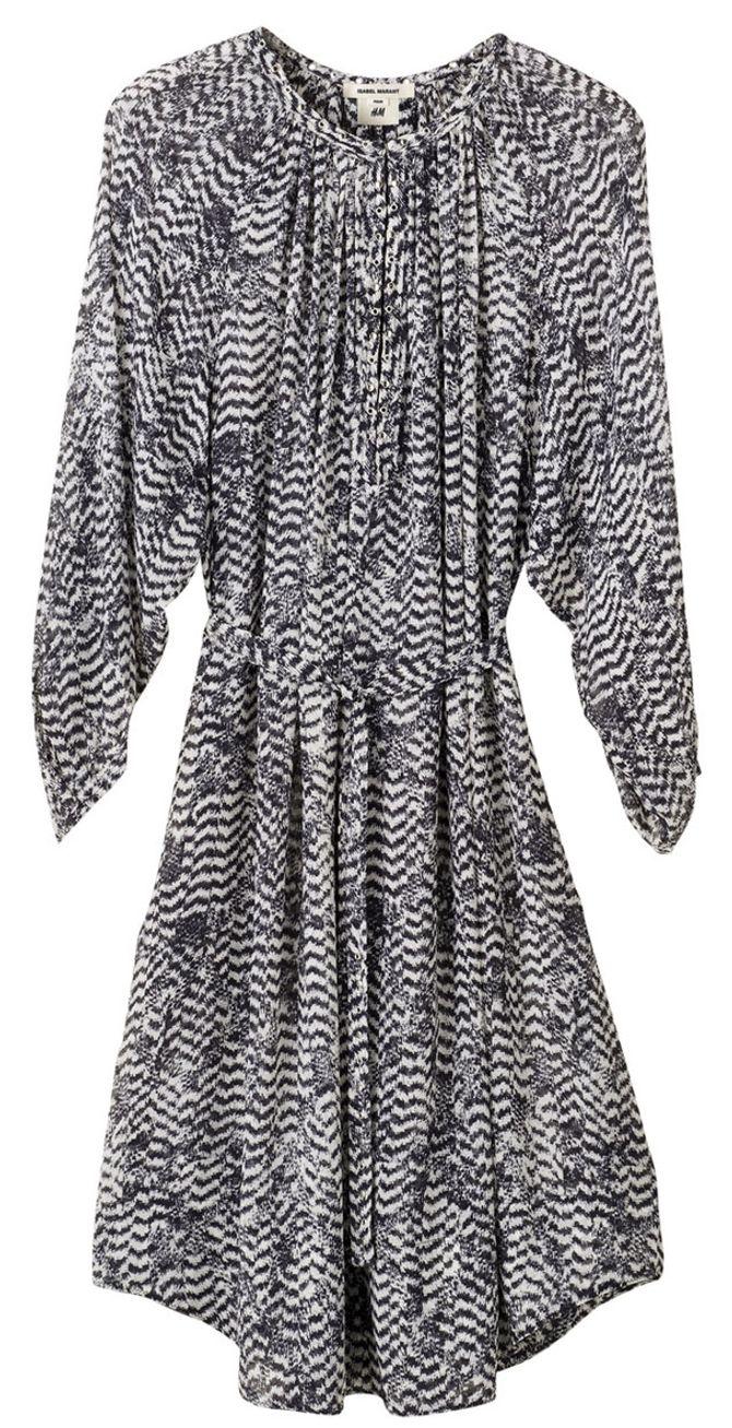 H&M X Isabel Marant, Robe imprimée, 99 €