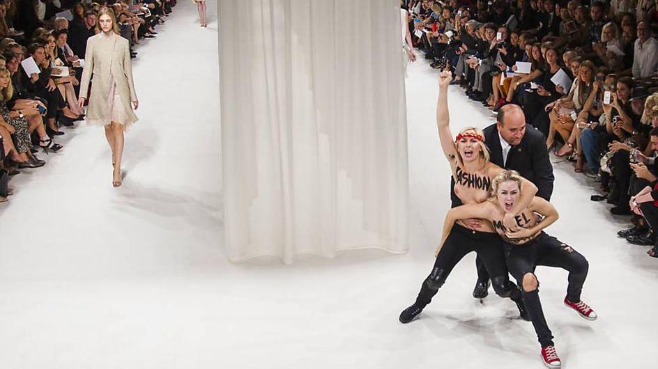 Femen : Deux activistes perturbent le défilé Nina Ricci à Paris (Vidéo)