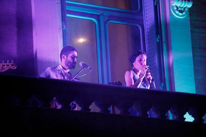 Fuel Fandango en su actuación en el Arthur Guinness Day en Madrid.