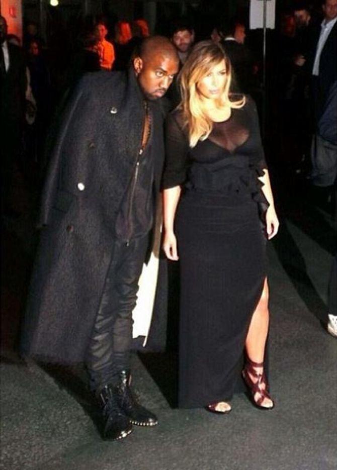 Kim Kardashian et Kanye West au défilé Givenchy, septembre 2013