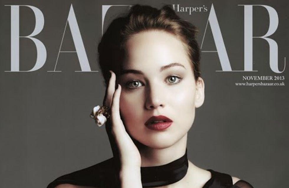Jennifer Lawrence, élégante en couverture du Harper's Bazaar UK