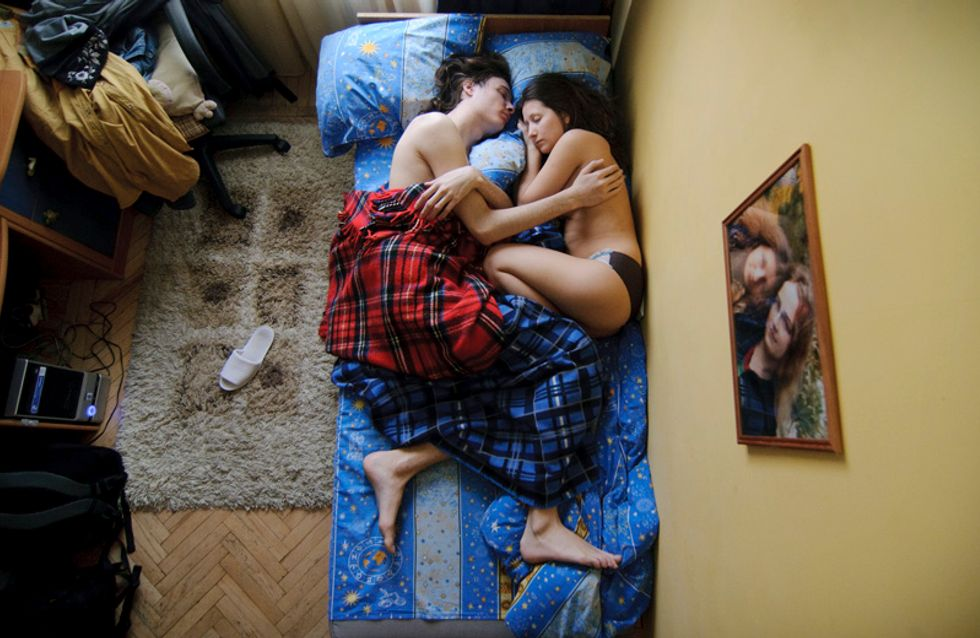 Des futurs parents surpris en plein sommeil