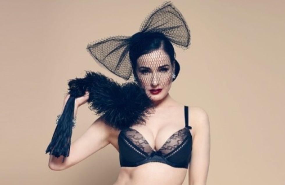 Dita Von Teese : Une nouvelle collection de lingerie signée Von Follies (Photos)
