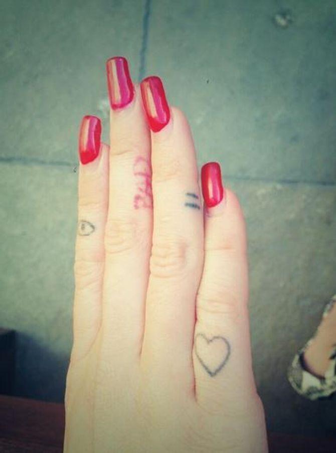 Miley Cyrus tatouages