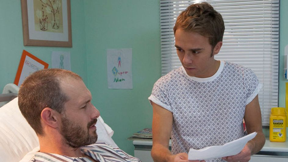 Coronation Street 13/10 - David opens the DNA results letter