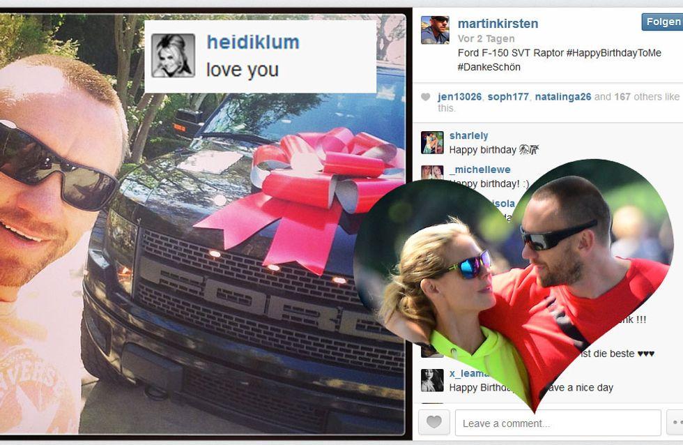 So verliebt: Heidi Klum schenkt ihrem Martin ein Auto!