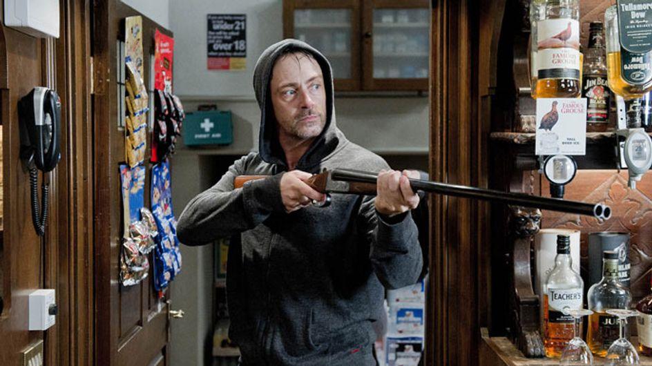 Emmerdale 15/10 - Cameron grabs a gun and finds Debbie